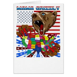 Mama-Grizzly-Set-2 Cartão Comemorativo