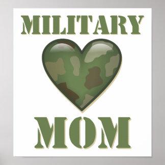 Mamã militar impressão
