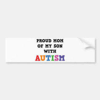 Mamã orgulhosa de meu filho com autismo adesivo para carro