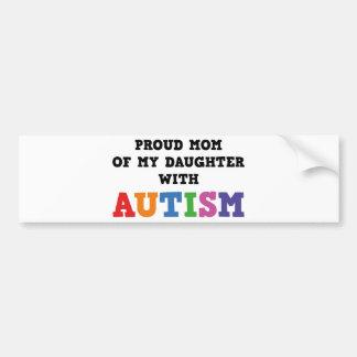 Mamã orgulhosa de minha filha com autismo adesivo para carro