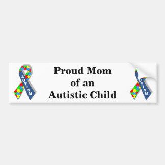 Mamã orgulhosa de uma criança autística adesivo para carro