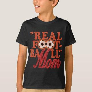 Mamã real do futebol (por do sol) t-shirts