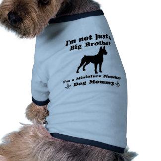 mamães do cão do pinscher diminuto camisa para cães