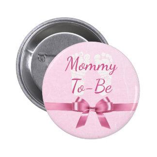 Mamães grandes do arco cor-de-rosa a ser botão do bóton redondo 5.08cm