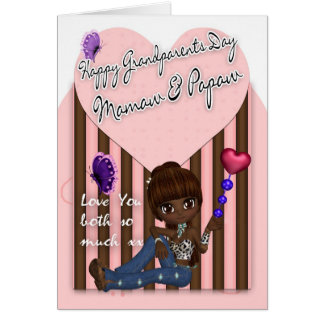 Mamaw & mamão, cartão do dia das avós - pequeno