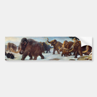 Mammoths woolly bonitos no stiker do pára-choque adesivo para carro