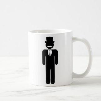 Man with a mustache caneca de café