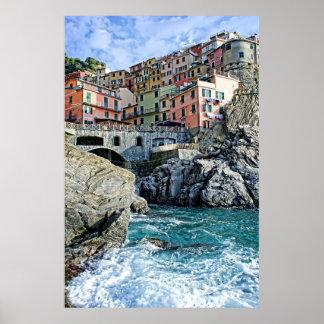 Manarola colorido, Italia - o poster de Cinque