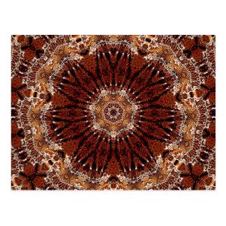 Mandala 2 da castanha cartão postal