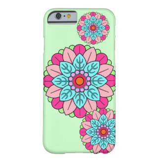 Mandala da flor capa barely there para iPhone 6