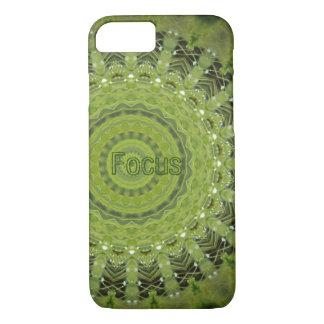 Mandala da grama verde com foco capa iPhone 7