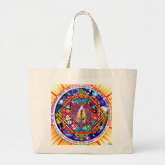 Mandala da ioga de Kundalini Bolsa Tote Grande