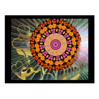 Mandala de brilho cartão postal