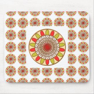 Mandala de Chakra do GIRASSOL da beira do ouro Mouse Pad