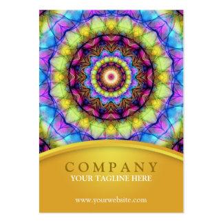 Mandala de vidro do arco-íris - carnudo cartões de visita