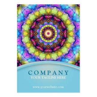 Mandala de vidro do arco-íris - carnudo modelo de cartões de visita