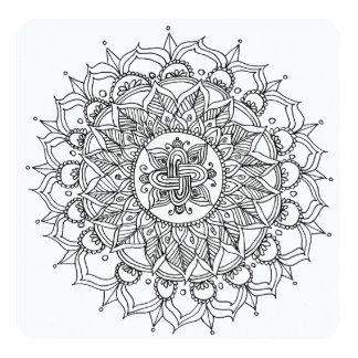 Mandala do cartão da coloração pela harmonia