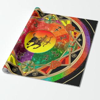 Mandala do Sagitário do sinal do zodíaco Papel De Presente