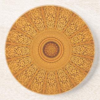 Mandala Porta Copos De Arenito