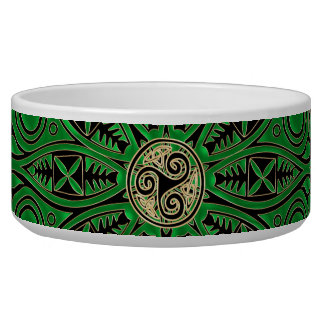 Mandala verde de Kelly Triskele Tigela