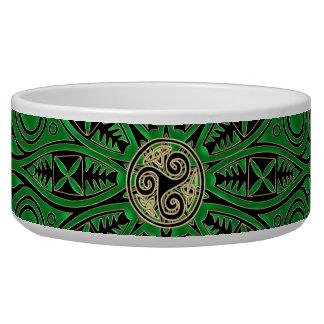 Mandala verde de Kelly Triskele Tijela Para Comida De Cachorros