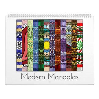 Mandalas modernas calendário de 12 meses