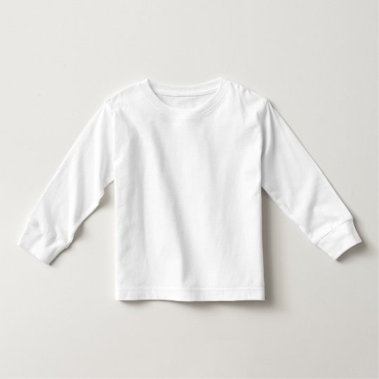 Camiseta Infantil de Mangas Longas, Branco