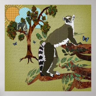Manhã da azeitona dos Lemurs Poster