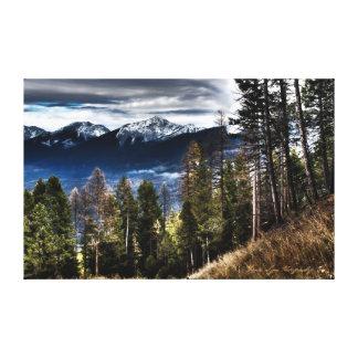 Manhã da montanha impressão em canvas