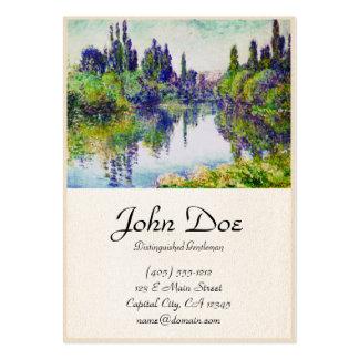 Manhã no Seine, perto de Vetheuil Claude Monet Cartão De Visita Grande