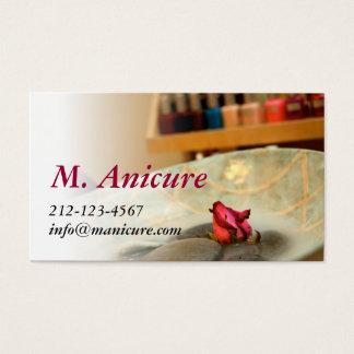 manicure cartão de visitas