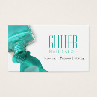 Manicure do salão de beleza do prego do brilho da cartão de visita
