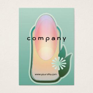 Manicure orgânico das unhas da natureza cartão de visita grande