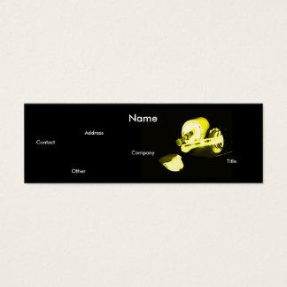 Manicuro no preto & no amarelo cartão de visita skinny
