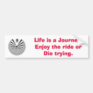 maninthemaze2, vida é uma viagem. Aprecie livrado… Adesivo Para Carro