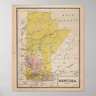 Manitoba 1920 de French Antigo Map Pôster