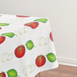 Manjericão italiana do tomate da mussarela da toalha de mesa