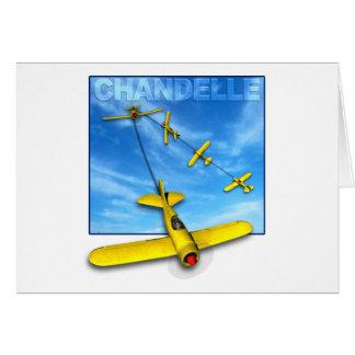 Manobra Aerobatic do Chandelle com avião Cartão Comemorativo