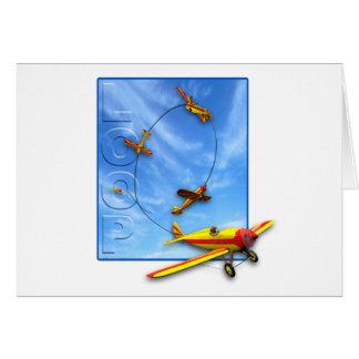 Manobra Aerobatic do laço com avião Cartão Comemorativo
