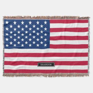 Manta Bandeira americana clássica