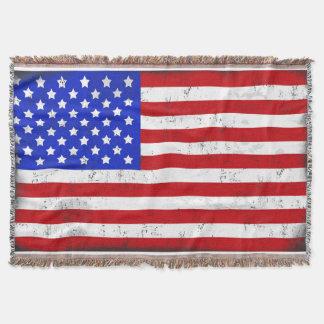 Manta Cobertura do lance da bandeira americana do