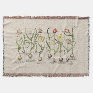 Manta Cobertura do lance das flores da tulipa