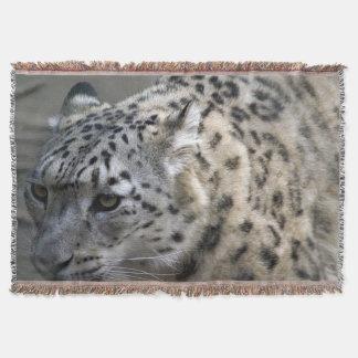 Manta Cobertura do lance do leopardo de neve
