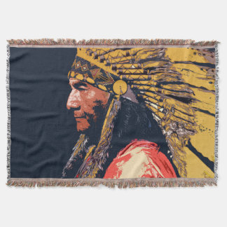 Manta Cobertura indiana velha do lance