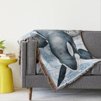 Manta Compasso da baleia da orca