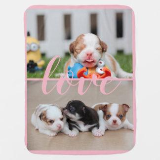 Manta De Bebe A cobertura cor-de-rosa do bebê da chihuahua