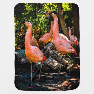 Manta De Bebe Aguarela do flamingo