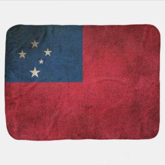 Manta De Bebe Bandeira afligida vintage de Samoa