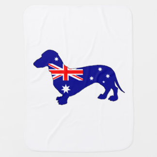 Manta De Bebe Bandeira australiana - Dachshund
