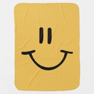 Manta De Bebe Cara feliz amarela